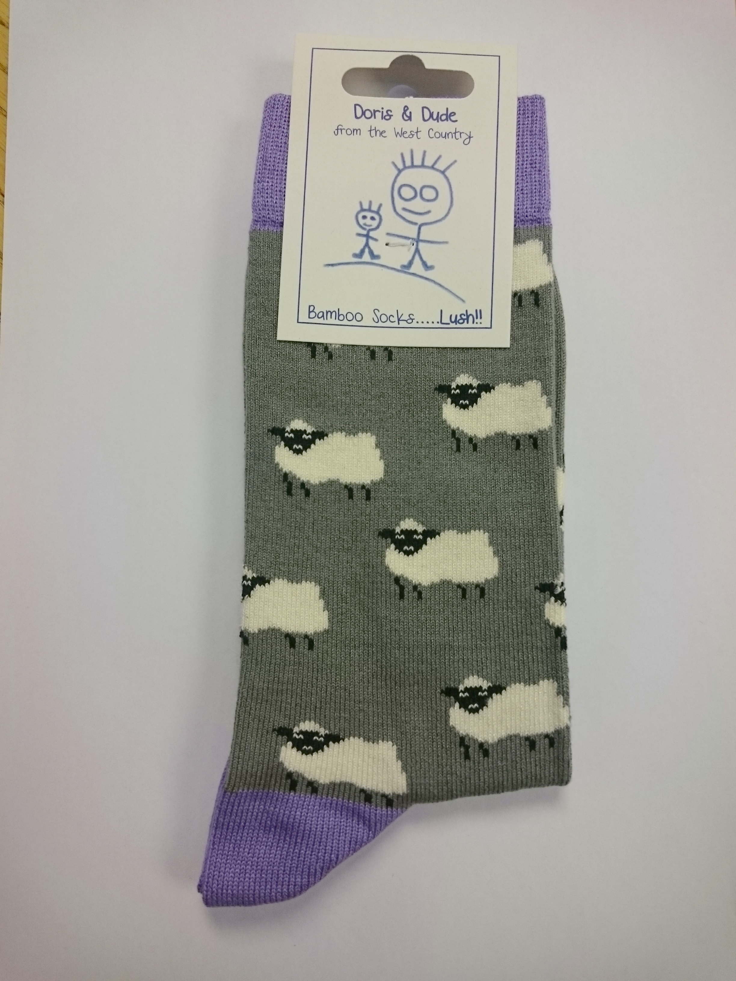 Grey Men's Sheep Socks