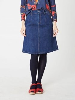 Elaine Skirt - Denim - Vegan