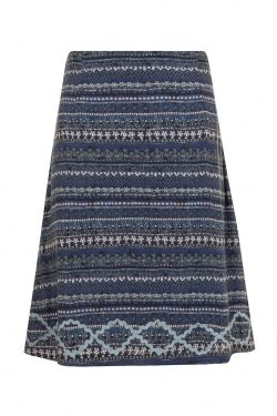 Indigo Batik Lines Skirt - Blues mix