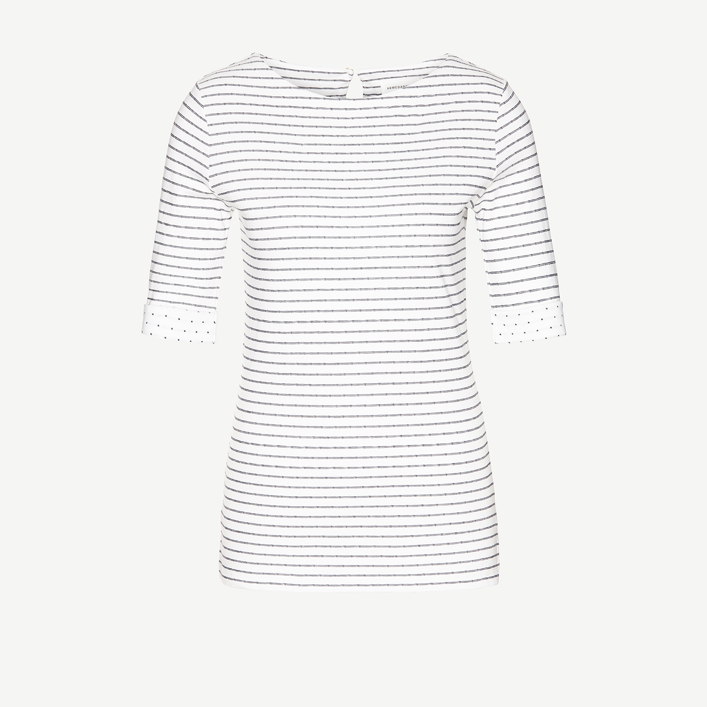 Calle Top – navy and white striped top