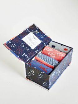 Sashiko Sock Gift Box - Assorted Designs