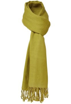 Wool Shawl - Lime Green