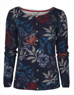 Kemble Occasion Cardigan Ornate Floral - Navy