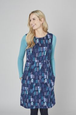 Torrington Dress Block Geo - Navy and Teal