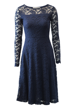 Edgeworth Lace Dress - Navy