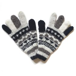 Single Knit Gloves - Grey