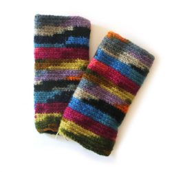 Knitted Tie Dye Hand Warmers