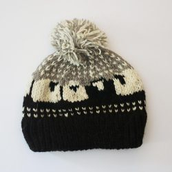 Knitted Sheep Hat - Black