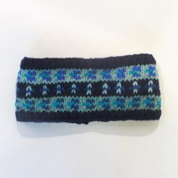 Knitted Nordic Headband - Blue