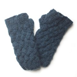 Plain Knit Handwarmers - Teal